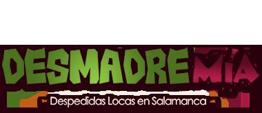 logo desmadremia despedidas en Salamanca